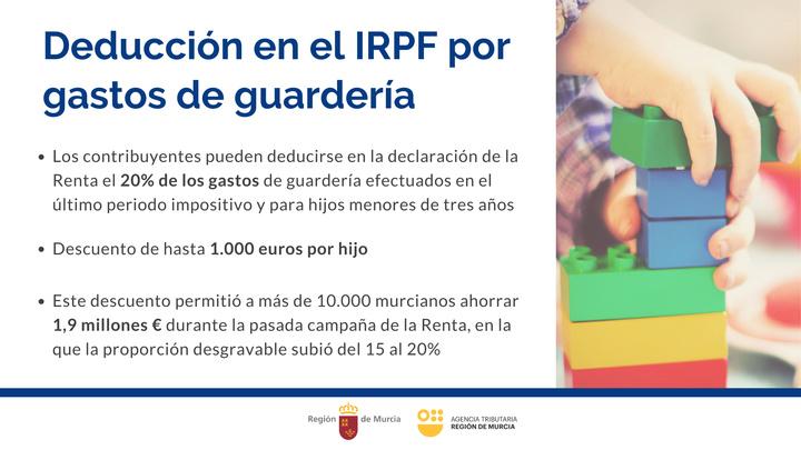 Deducciones por gastos de guardería en el IRPF