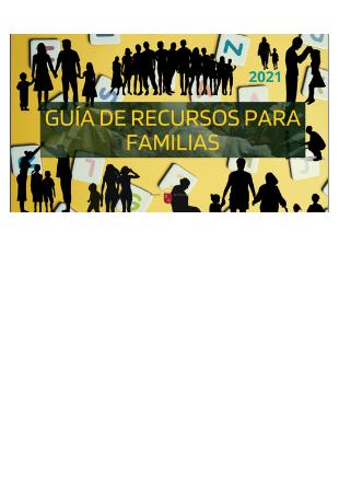 Guía de Recursos para Familias de la Región de Murcia. Año 2021