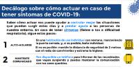 ¿Qué hacer ante síntomas COVID-19?